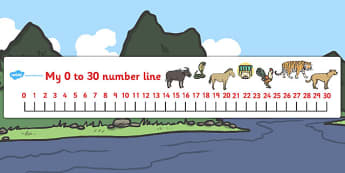 Chinese New Year Story Number Lines 0-30 - number line, chinese