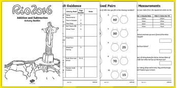 Year 2 Rio Olympics Addition and Subtraction Activity Booklet