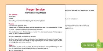 International Day of Peace, Prayer Service Guide-Irish