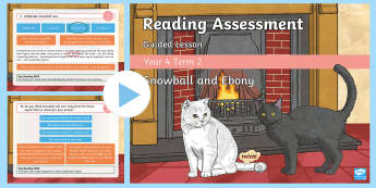 Year 4 Term 2 Fiction Reading Assessment Guided PowerPoint - Year 3, Year 4 & Year 5 Reading Assessment Guided Lesson PowerPoints, KS2, reading, read, assessment
