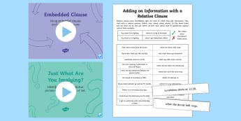 Use Relative Clauses Lesson Ideas Resource Pack - Use Relative Clauses Lesson Ideas  Resource Pack, relative clauses, clauses, subordinate clause, mai