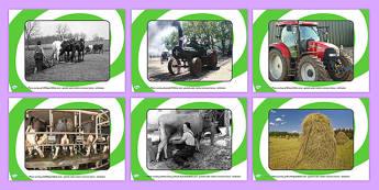 Farm Equipment Old and New Display Photos - farm, farm equipment, farming equipment, farm equipment photo posters, old and new farm equipment, on the farm