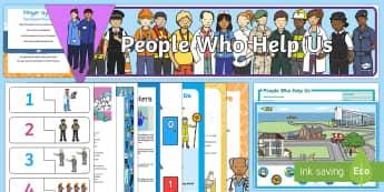 Childminder People Who Help Us EYFS Resource Pack - People Who Help Us, police, fireman, firefighter, paramedic, ambulance, emergency services, childmin