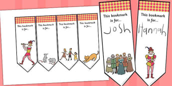 The Pied Piper Editable Bookmarks - bookmarks, pied piper, book