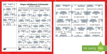 Despre sărbătoarea Crăciunului Scriere creativă-Romanian - Christmas, Crăciun, scriere, creativă, joc, imaginație, creativitate, limba română, romanian, m