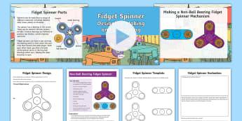 KS2 Making Fidget Spinners Resource Pack -  fidget spinner, fidget spinners, Fidget Spinner, Fidget Spinners, ks2 d.t, ks2 design and technolog