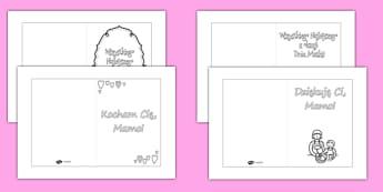 Kartki do kolorowania Dzień Matki