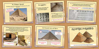 Ancient Egyptian Pyramids Lesson PowerPoint - egypt, history
