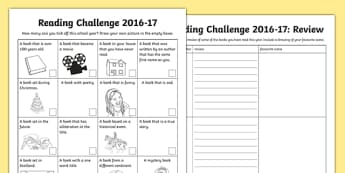 Personal Reading Challenge 2016-17 Checklist-Scottish