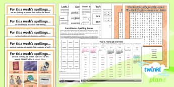 PlanIt Spelling Year 6 Term 2B Bumper Spelling Pack - Spellings Year 6, Y6, pack, half term. medium term, bumper, spring term, assessment, spag, gps, list