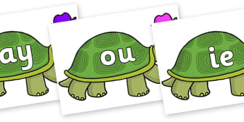 Phase 5 Phonemes on Tortoise - Phonemes, phoneme, Phase 5, Phase five, Foundation, Literacy, Letters and Sounds, DfES, display