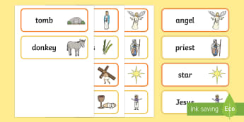 The Easter Story Word Cards - Easter, UK, RE, religious, Christian, religion,