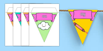 Phase 5 Display Bunting - phase 5, phase five, phases, bunting, themed bunting, display bunting, display, bunting flags, flag bunting, cut out bunting