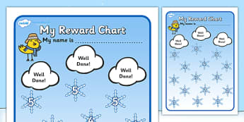 Reward Sticker Chart Winter (Snowflakes) - Reward Chart, reward sticker, School reward, Behaviour chart, SEN chart, Daily routine chart, snowflakes, winter
