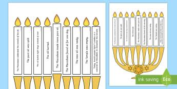 Light The Candle Hanukkah Puzzle - hanukkah, puzzle, candle