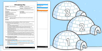 Marshmallow Igloos EYFS Adult Input Plan - EYFS, planning, early years, winter, polar, artic, snow, fine motor