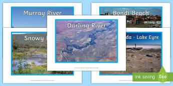 Water in Australia Photo Pack - Water in Australia, river, rivers, lake, lakes, Australia, beach, reef,Australia