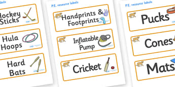 Puma Themed Editable PE Resource Labels - Themed PE label, PE equipment, PE, physical education, PE cupboard, PE, physical development, quoits, cones, bats, balls, Resource Label, Editable Labels, KS1 Labels, Foundation Labels, Foundation Stage Label