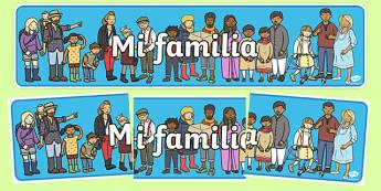 mi familia Display Banner Spanish - spanish, my family, display banner, display, banner, family