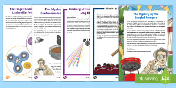 UKS2 Mystery Maths Games Resource Pack - maths, mysteries, end of year, games, problems, problem solving