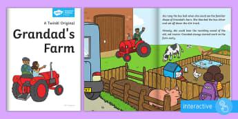 Exploring My World - Grandad's Farm eBook - aistear, story, animals, farmyard, chickens, pigs, growing, food,Irish