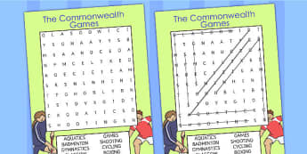 The Commonwealth Games Differentiated Wordsearch - word search