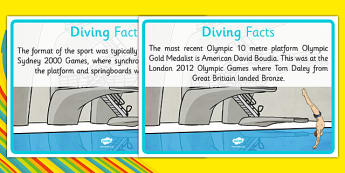 The Olympics Diving Display Facts - Rio Olympics, reading, facts, information, sports, dive, display