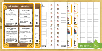 KS1 Pirate Ship Job Application Activity Pack - Career, Motivation, Ambition, Interview, Questions, Answers, Captain Hook, Ship, Crew, Plank