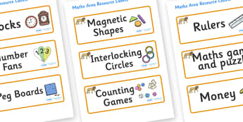 Lion Themed Editable Maths Area Resource Labels - Themed maths resource labels, maths area resources, Label template, Resource Label, Name Labels, Editable Labels, Drawer Labels, KS1 Labels, Foundation Labels, Foundation Stage Labels, Teaching Labels