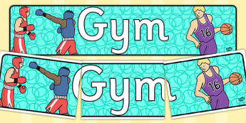 Gym Role Play Display Banner - roleplay, role play props, header