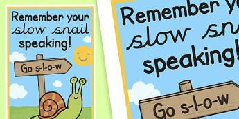 Slow Snail Speaking Poster - slow snail, speaking, poster, display