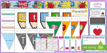 Teacher Appreciation Week Display Pack - Teacher Appreciation Week, Teacher Appreciation, my teacher, display, poem, superteacher,