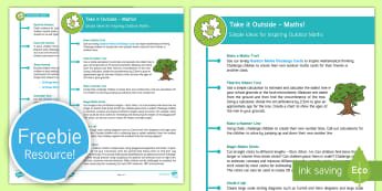 KS1 Take Maths Outside Teaching Ideas - ks1, key stage one, key stage 1, year 1, year one, y1, year 2, year two, y2, outdoor, outdoor classr