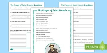 Saint Francis of Assisi Poetry Resource Pack