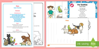 Pets Quiet Time Box - EYFS Pets, Animals, National Pet Month, table top activities, cats, dogs, hamsters