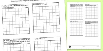 Division Practice Working in Context - interpet, remainders, real life, division, practice, working, context