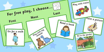 At Free Play I Choose Choice Cards - free play, I choose, cards