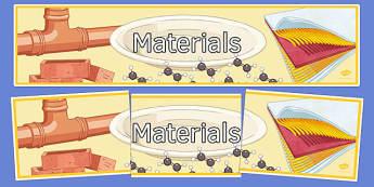 Materials Display Banner - display banner, display, banner, materials