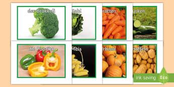 Vegetable Display Posters German - Vegetables, Gemüse, German, Food