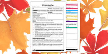 Autumn Leaf Storm Dance EYFS Adult Input Plan