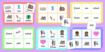 Year 1 Common Exception Words Bingo - year 1, common exception words, bingo, game, activity