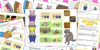 Three Little Pigs Lapbook Creation Pack - lapbook, lapbooks