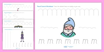 Traditional Tales Themed Pencil Control Worksheets - fairytales, pencil control, themed pencil control sheets, fairytale themed pencil control