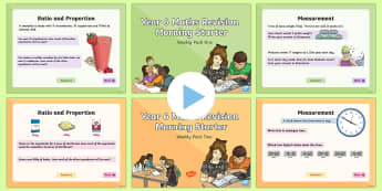 SATs Survival: Year 6 Maths Revision Morning Starter PowerPoint - SATs Survival Maths, Mathematics, revision, boosters, support material, assessment