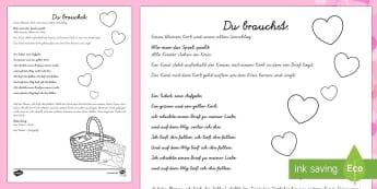 Valentinstag Korb Spiel - Valentinstag,Vorschule und Kindergarten, 1./2. Klasse, Spiele und Aktivitäten,Spieleideen,German
