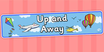 Up and Away IPC Display Banner - up and away, IPC, display, banner, display banner, display header, themed banner, banner for display, header for display