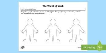 World of Work Activity Sheet - CfE Enterprise, financial education, business, jobs, careers, world of work, HWB 0-20a, HWB 1-20a, H