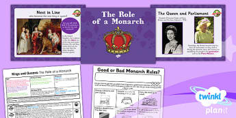PlanIt - History KS1 - Kings and Queens Lesson 1: The Role of a Monarch Lesson Pack