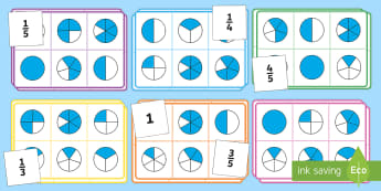 Fraction Bingo - bingo, fraction, maths, maths bingo, activity