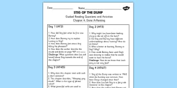 Stig of the Dump Guided Reading Chapter 4 - reading guide, story